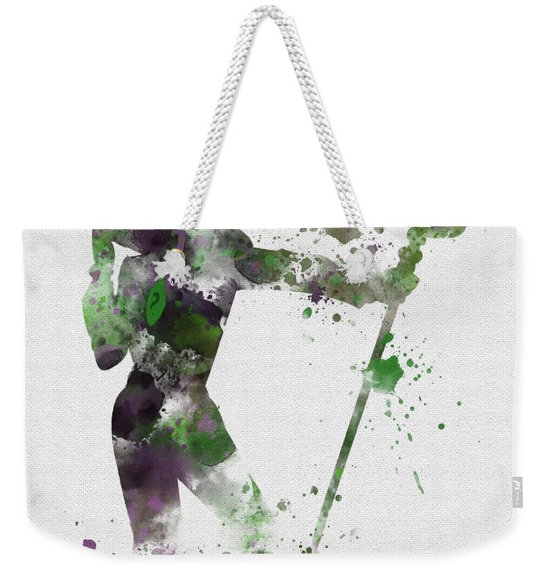 Riddler Weekender Tote Bag featuring the mixed media Riddler by My Inspiration