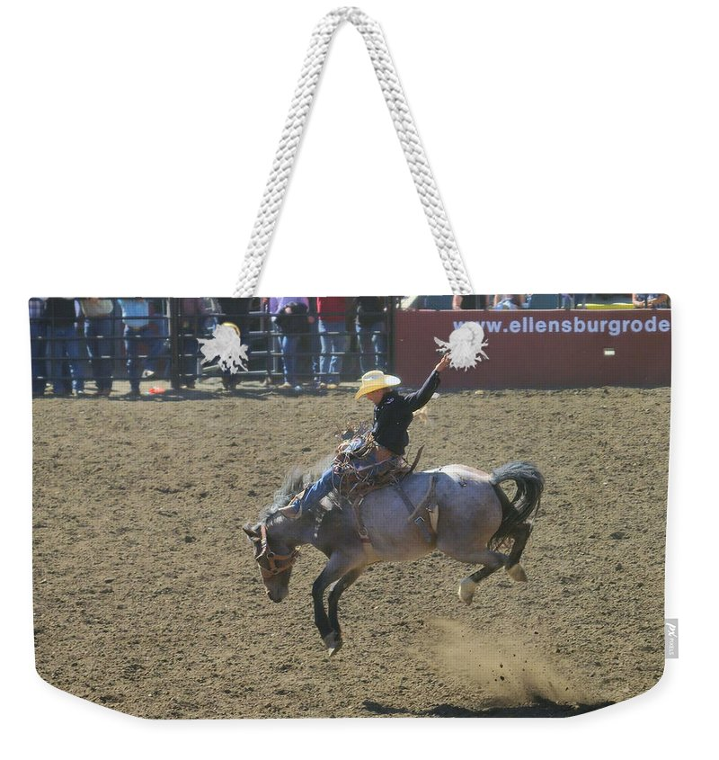 Competition Weekender Tote Bag featuring the photograph Ride Em Cowboy by Jeff Swan