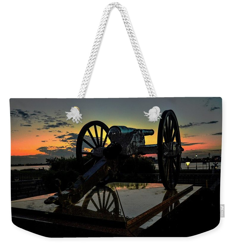 New Orleans Weekender Tote Bag featuring the photograph Ride Into The Sun by Jeff Watts