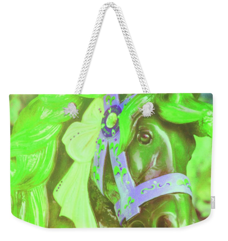 Horse Weekender Tote Bag featuring the photograph Ride Of Old Greens by JAMART Photography