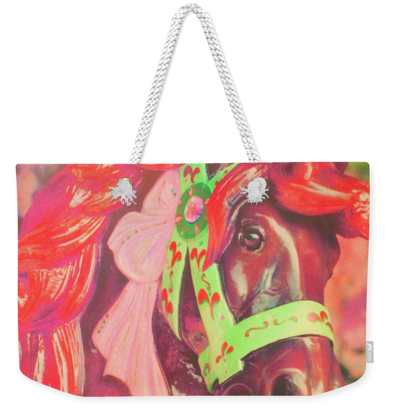 Horse Weekender Tote Bag featuring the photograph Ride Of Old Pinks by JAMART Photography