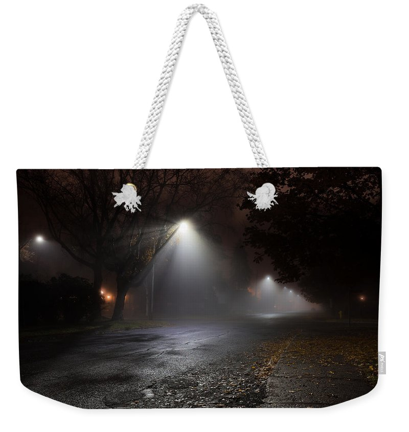 Architecture Weekender Tote Bag featuring the photograph Ridgeway Fog by Jakub Sisak