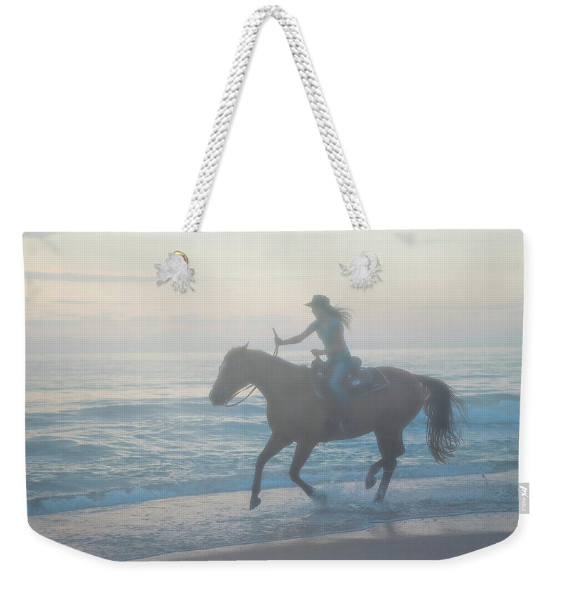 Florida. Rider Weekender Tote Bag featuring the photograph Riding Free by Janal Koenig
