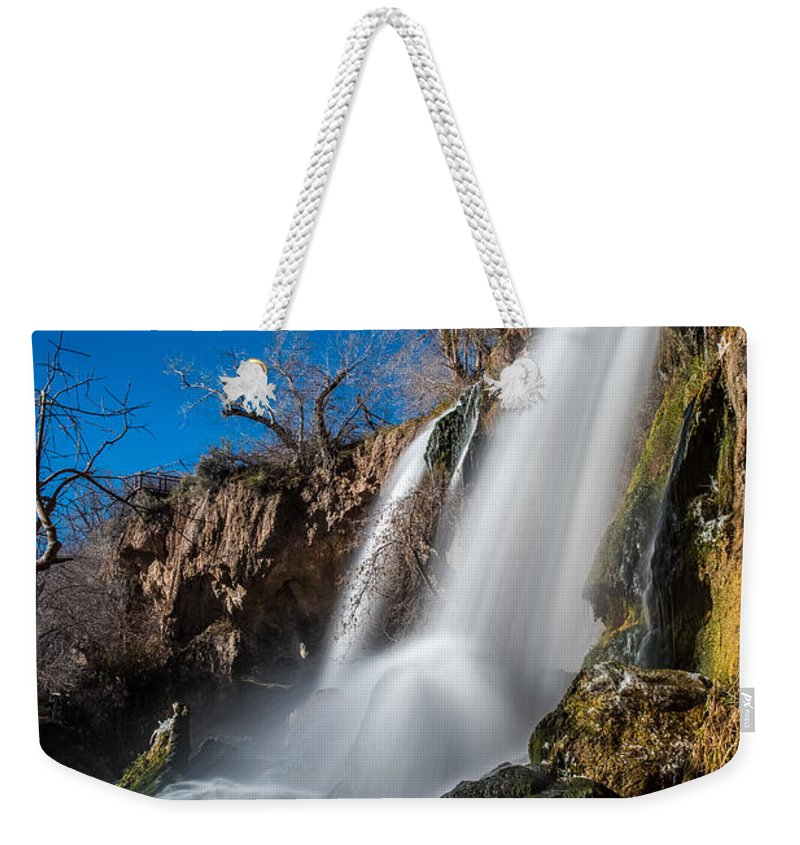 Rifle Falls State Park Weekender Tote Bag featuring the photograph Rifle Falls Long Exposure by Paul Freidlund