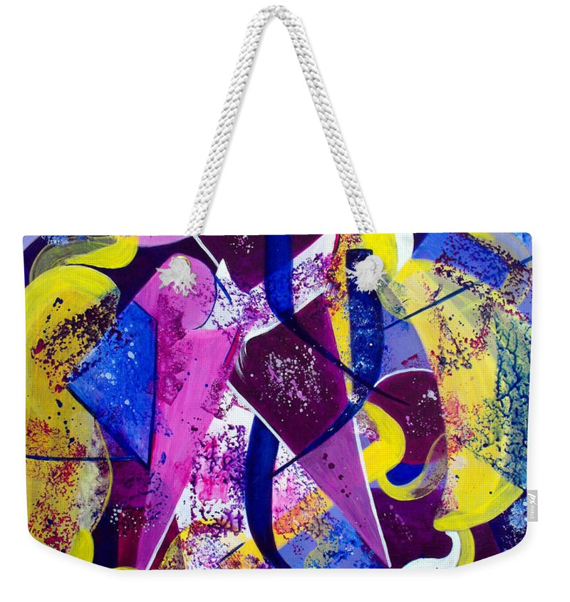 ruth Palmer Weekender Tote Bag featuring the painting Right Of Passage by Ruth Palmer