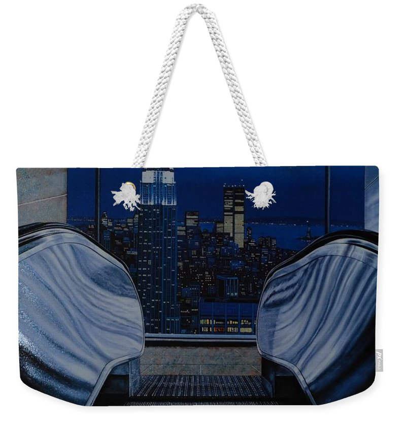 Lithograph Weekender Tote Bag featuring the photograph Right To The Top by Rob Hans