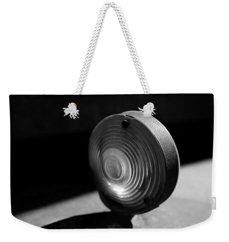 Car Weekender Tote Bag featuring the photograph Right Turn Signal by Marilyn Hunt