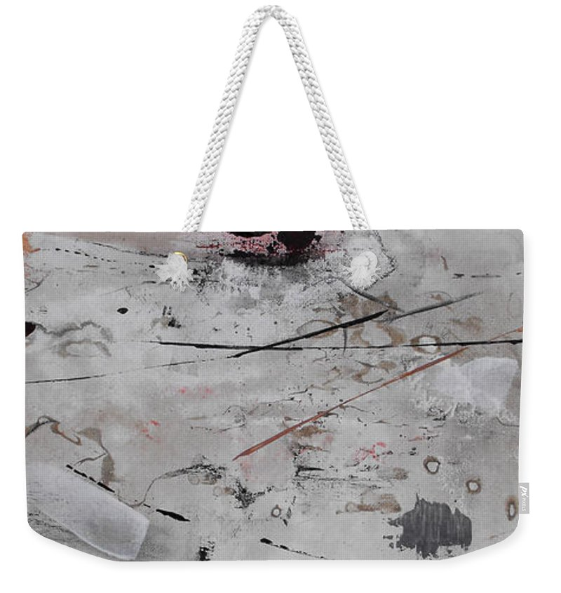 Abstract Weekender Tote Bag featuring the painting Righteous Judgment One Long by Ruth Palmer
