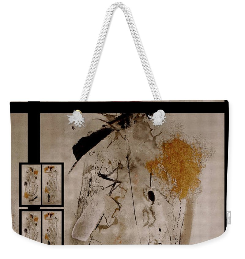 Abstract Weekender Tote Bag featuring the painting Righteous Judgment by Ruth Palmer