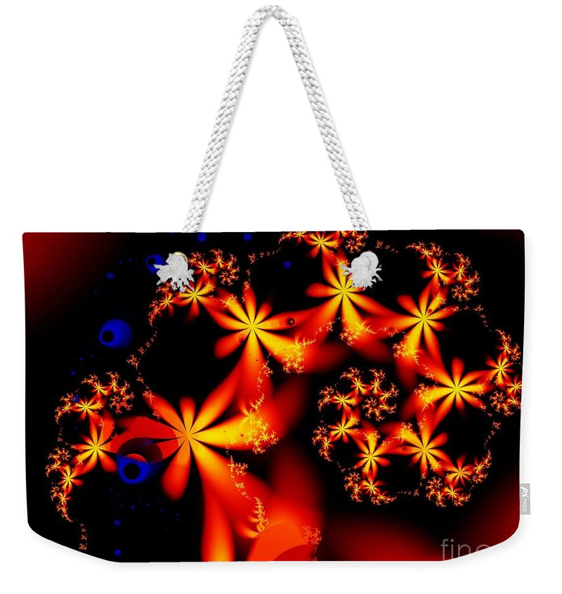 Flowers Weekender Tote Bag featuring the digital art Ring Of Posies by Ron Bissett