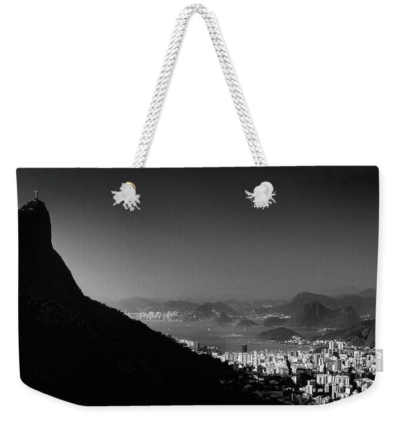 Horizon Weekender Tote Bag featuring the photograph Rio De Janeiro, Brazil Panorama by Alexandre Rotenberg