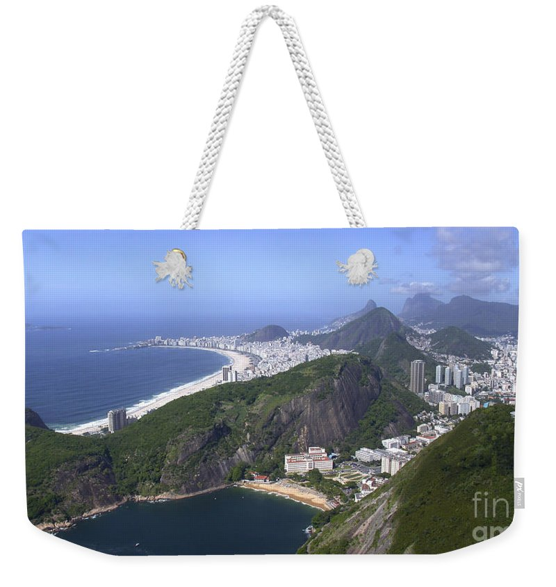 Panorama Weekender Tote Bag featuring the photograph Rio De Janiero Morning by Sandra Bronstein