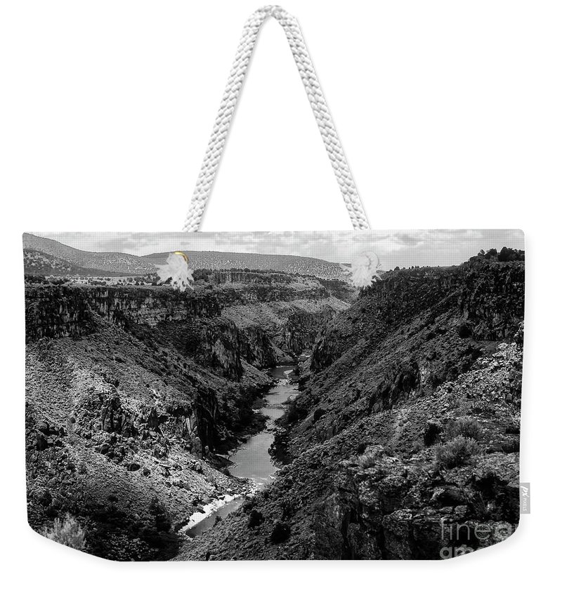 Sangre De Cristo Mountains Weekender Tote Bag featuring the photograph Rio Grande Carved Canyon 2 by Bob Phillips
