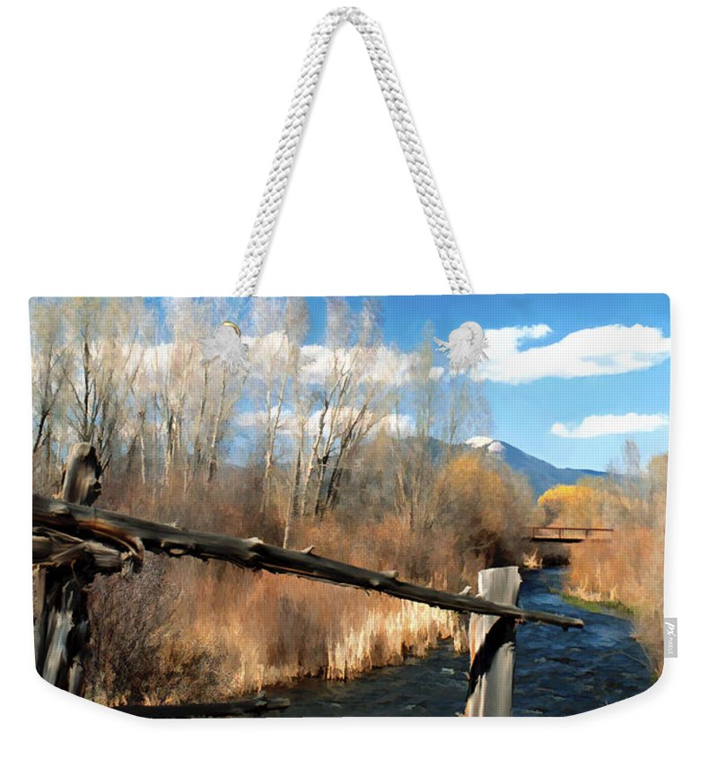 River Weekender Tote Bag featuring the photograph Rio Pueblo by Kurt Van Wagner