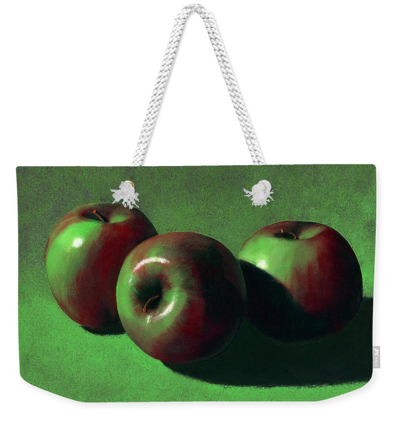 Still Life Weekender Tote Bag featuring the painting Ripe Apples by Frank Wilson