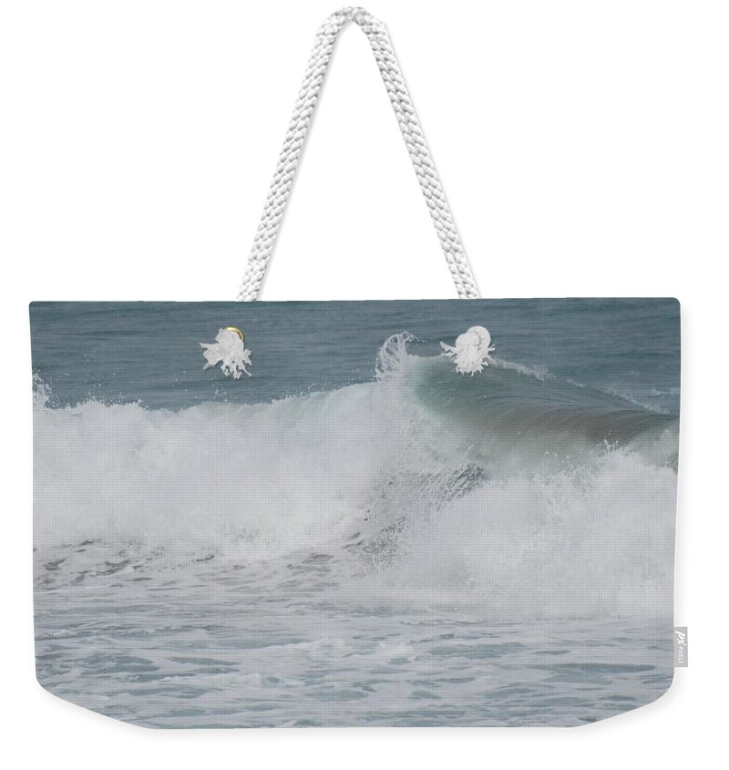 White Weekender Tote Bag featuring the photograph Ripple by Rob Hans