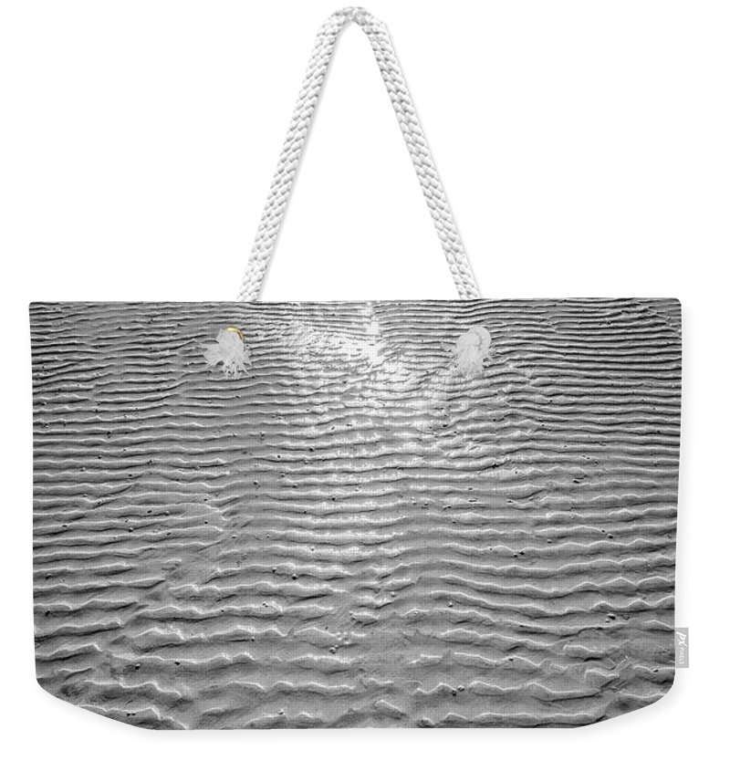 Rippled Weekender Tote Bag featuring the photograph Rippled Light by Hazy Apple