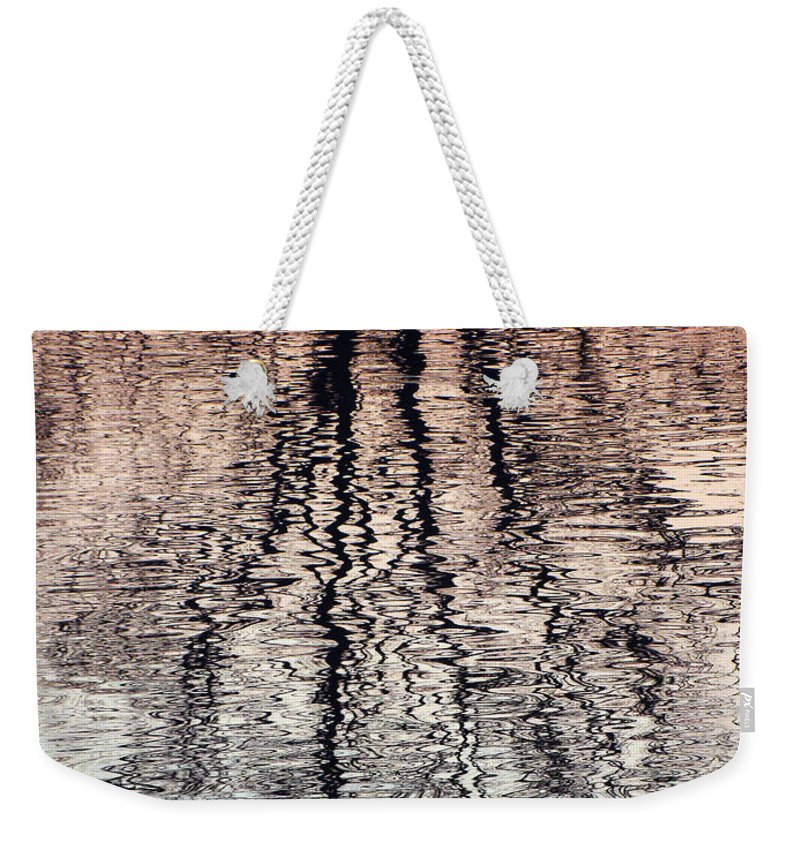 Waves Weekender Tote Bag featuring the photograph Rippled Reflection by J R  Seymour