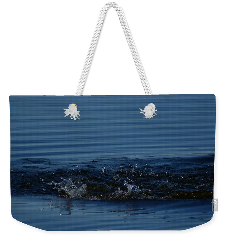 Waves Ripples In Lake Weekender Tote Bag featuring the photograph Ripples by Joanne Smoley