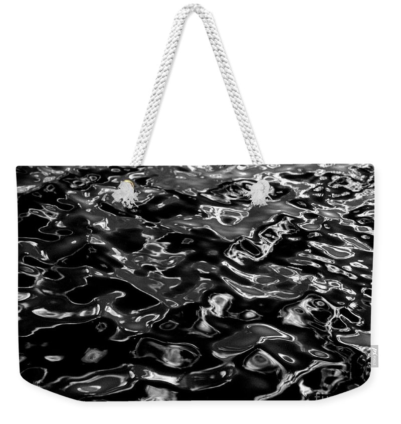 Black And White Weekender Tote Bag featuring the photograph Ripples by Peter Piatt