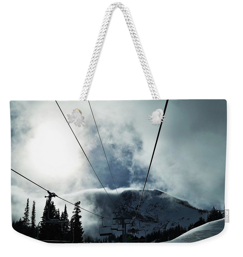 Landscape Weekender Tote Bag featuring the photograph Rise To The Sun by Michael Cuozzo