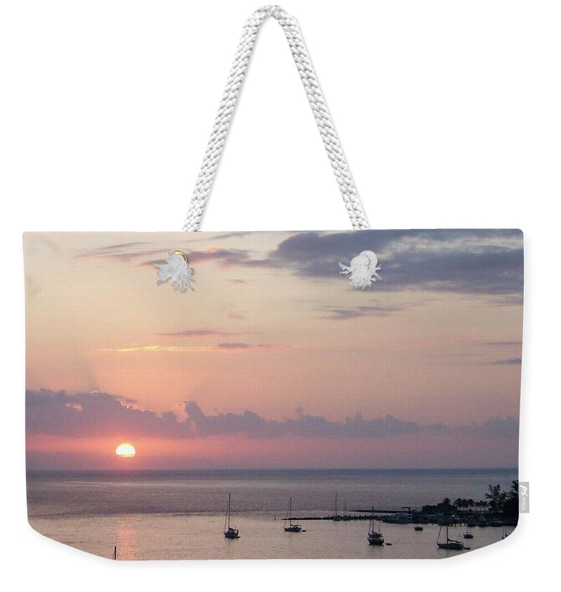 Boats Weekender Tote Bag featuring the photograph Risenshine by Greg Hammond