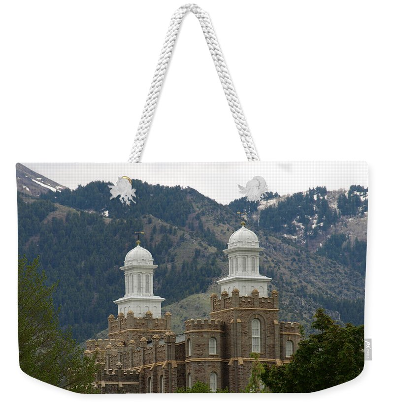 Temple Weekender Tote Bag featuring the photograph Rising Forth by DeeLon Merritt