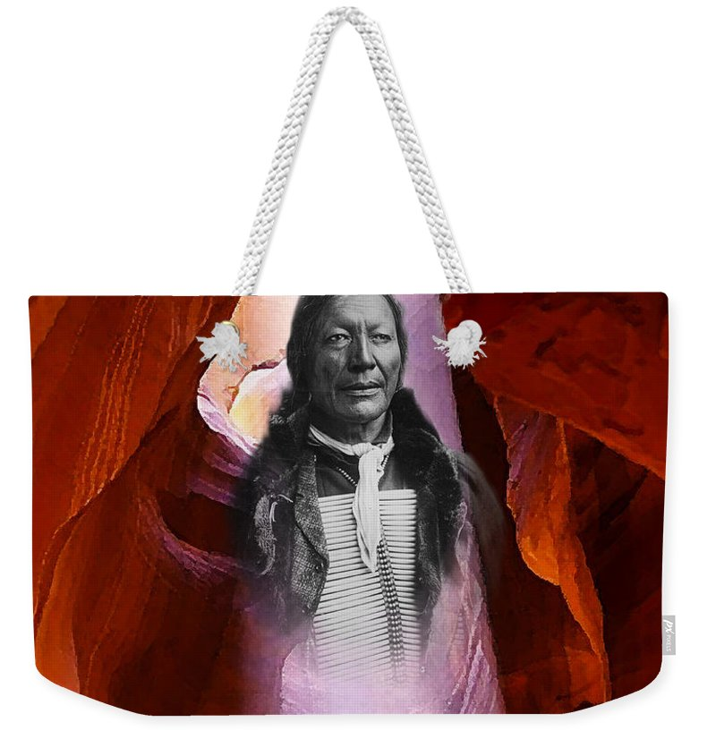 Slot Canyon Mixed Media Weekender Tote Bags