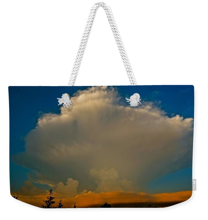 Nature Weekender Tote Bag featuring the photograph Rising Storm by Tim G Ross