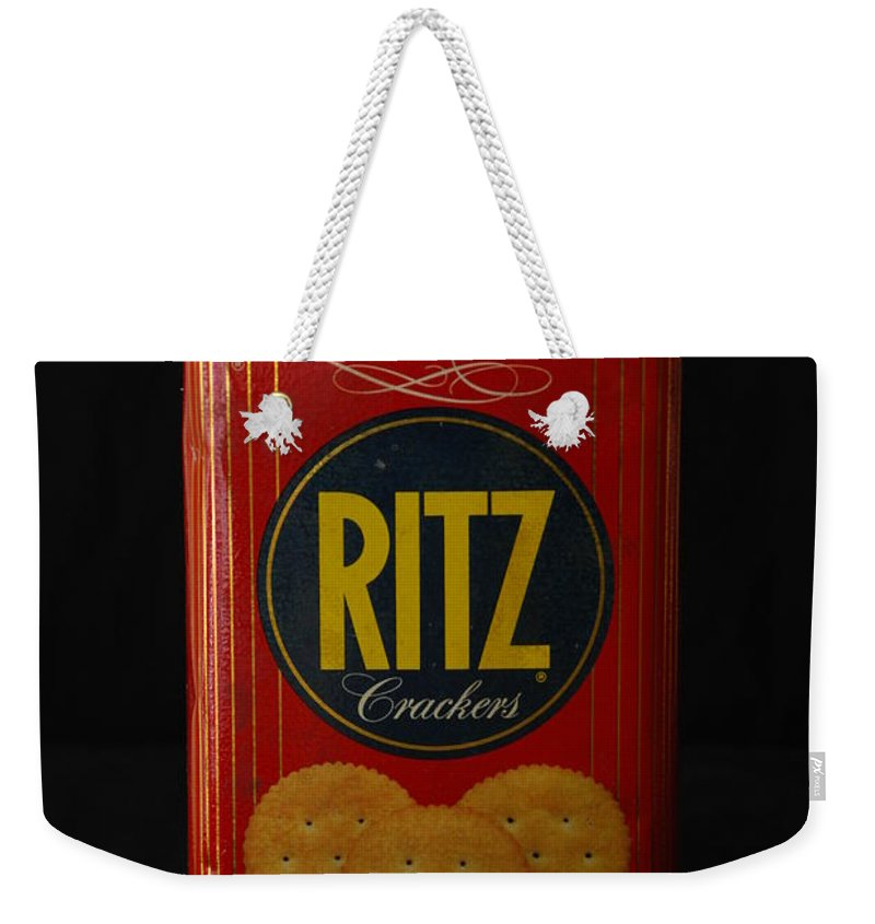 Ritz Weekender Tote Bag featuring the photograph Ritz Crackers by Rob Hans