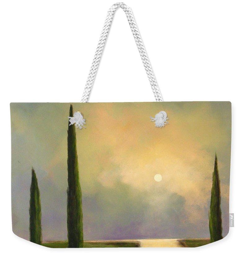 Trees Weekender Tote Bag featuring the painting River Dreams by Toni Grote