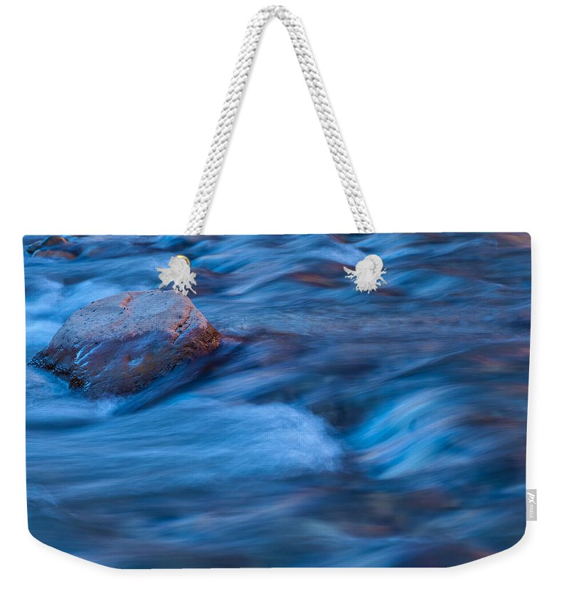 Winter Weekender Tote Bag featuring the photograph River Flows by Jonathan Nguyen
