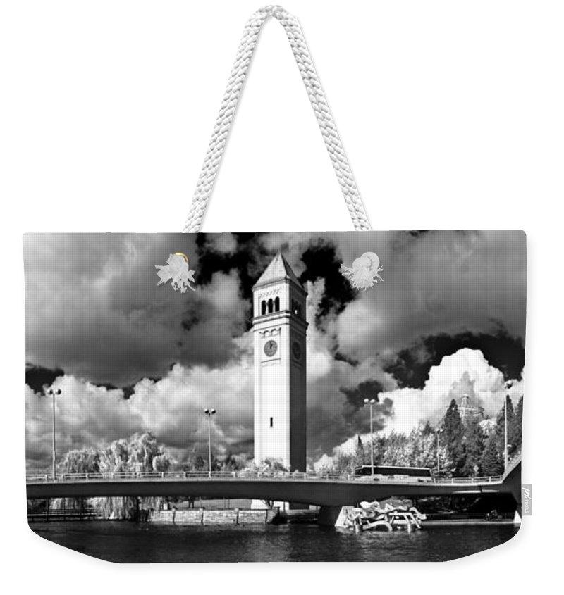 Landscape Weekender Tote Bag featuring the photograph River Front Park Spokane by Lee Santa
