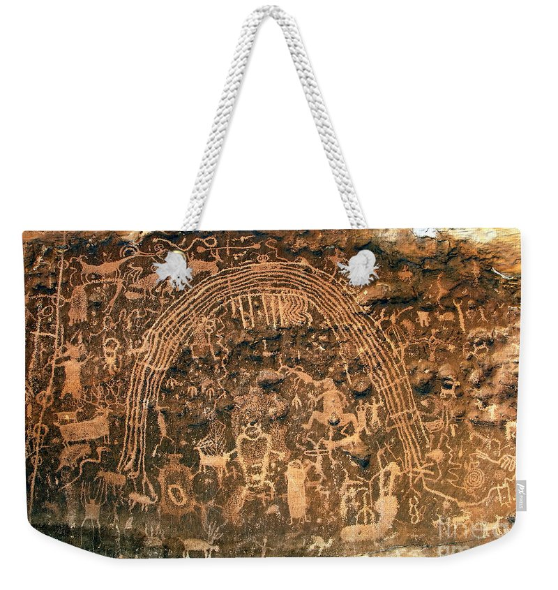 Petroglyphs Weekender Tote Bag featuring the photograph River Of Dreams by David Lee Thompson
