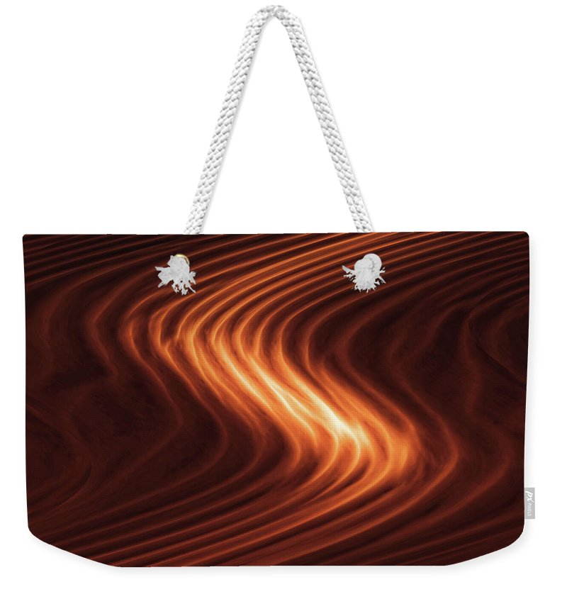 Abstract Weekender Tote Bag featuring the photograph River Of Fire by Rick Furmanek