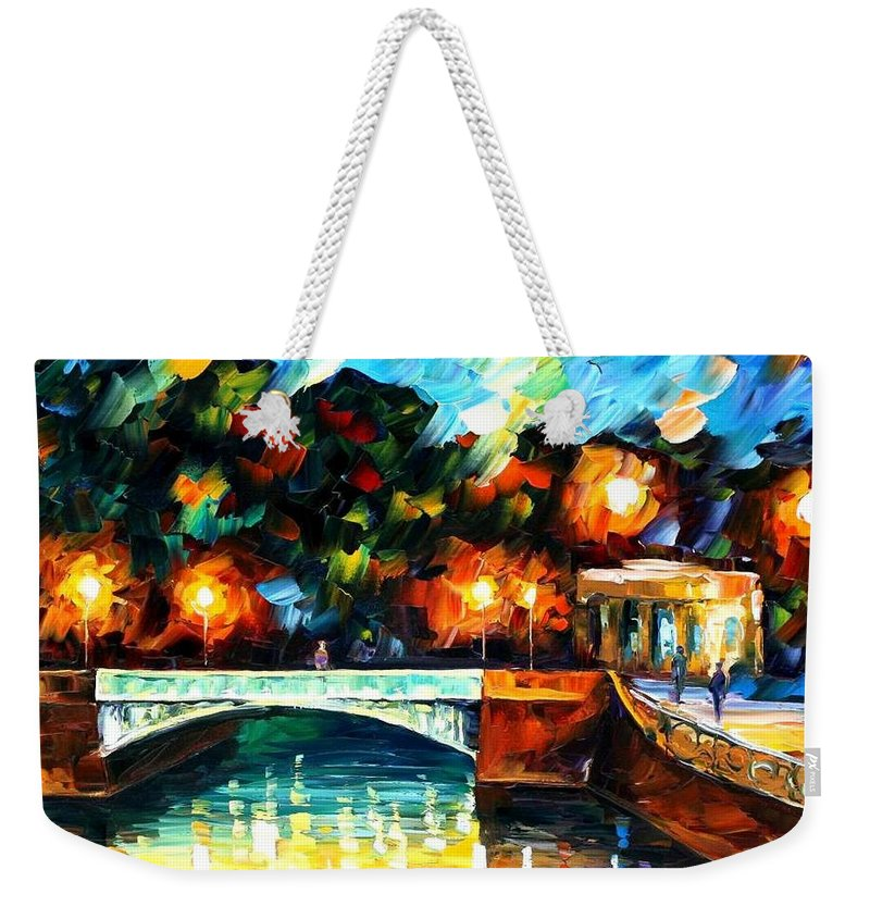 Afremov Weekender Tote Bag featuring the painting River Of Love by Leonid Afremov