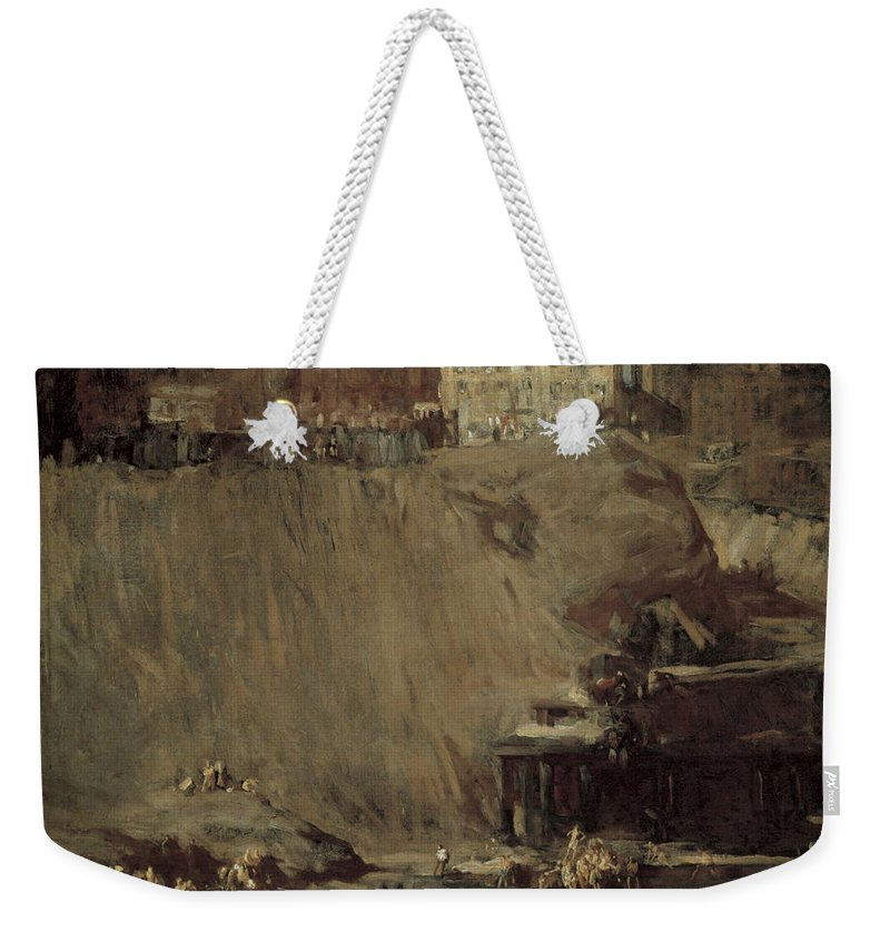 River Rats Weekender Tote Bag featuring the photograph River Rats by George Bellows
