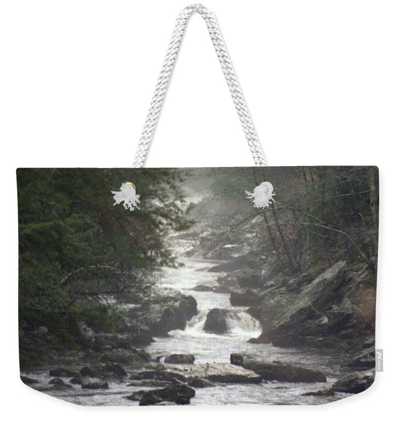 River Weekender Tote Bag featuring the photograph River Run by Richard Rizzo