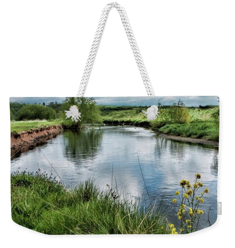 Nature_perfection Weekender Tote Bag featuring the photograph River Tame, Rspb Middleton, North by John Edwards