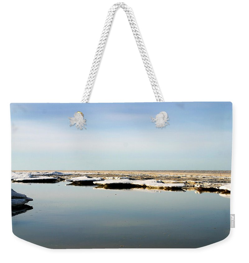 Ocean Weekender Tote Bag featuring the photograph River To The Arctic Ocean by Anthony Jones