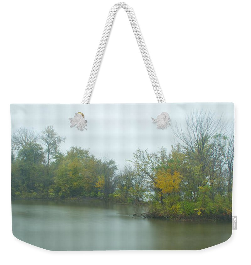 Mississippi River Weekender Tote Bag featuring the photograph Riverlands On The Mississippi River by Garry McMichael