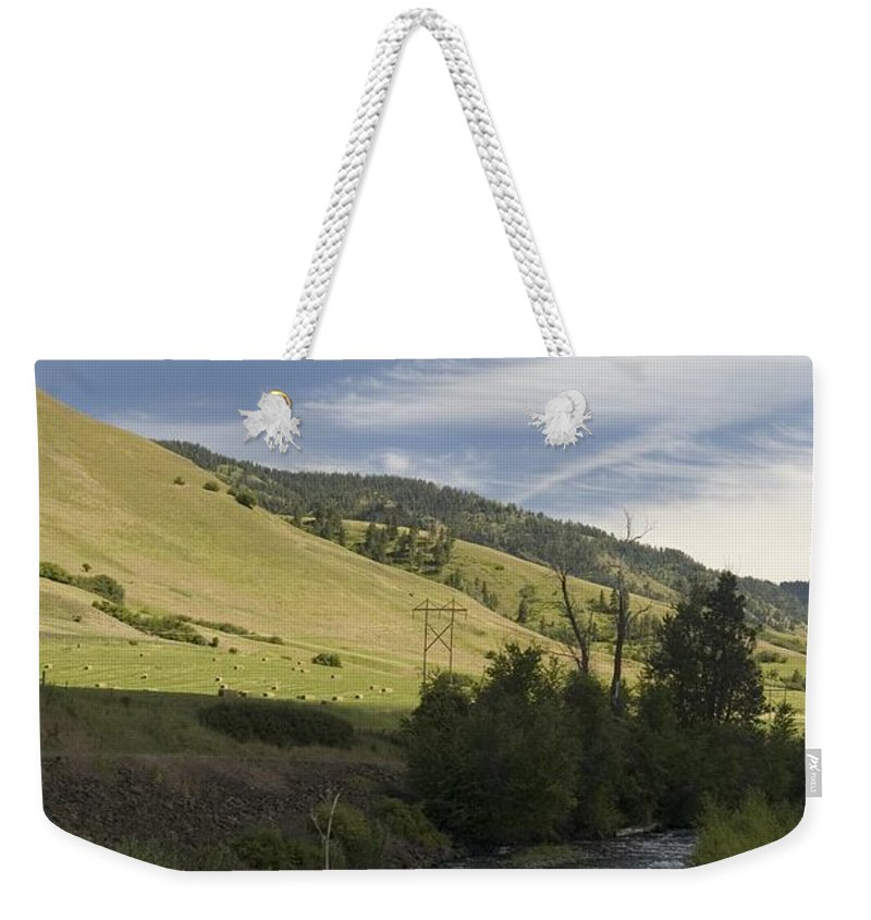 River Weekender Tote Bag featuring the photograph River's Bend by Sara Stevenson