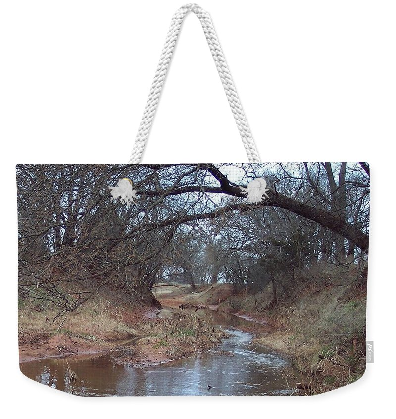Landscapes Weekender Tote Bag featuring the photograph Rivers Bend by Shari Chavira