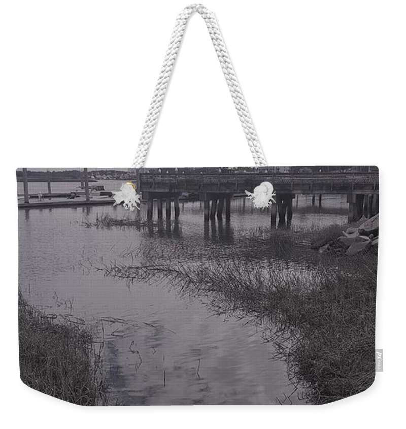Riverside Weekender Tote Bag featuring the photograph Riverside by McCall Chase
