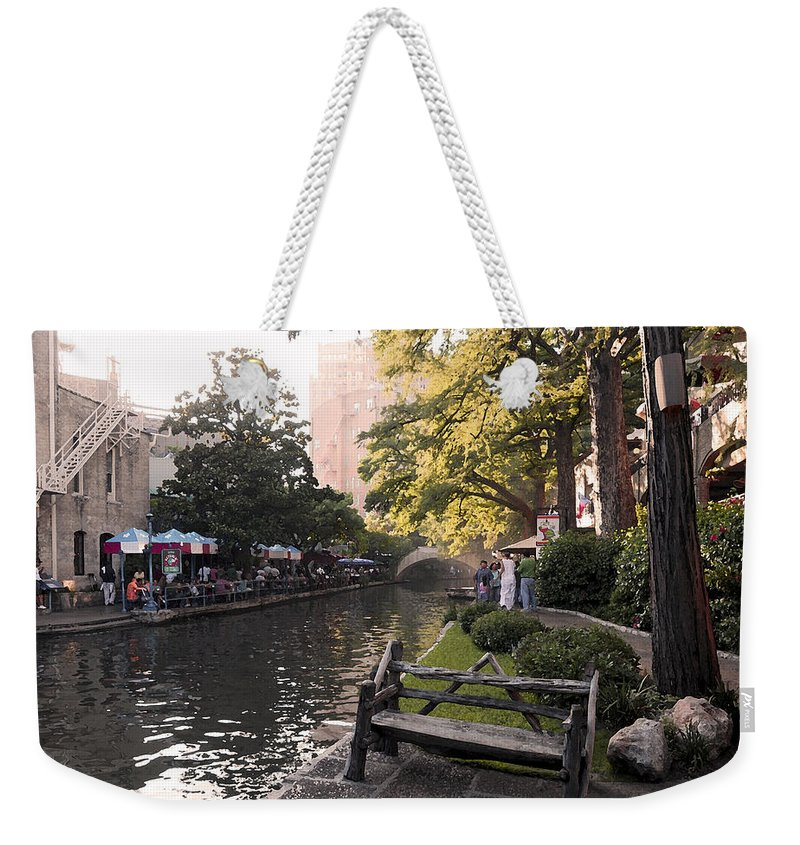 Impressionism Weekender Tote Bag featuring the photograph Riverwalk Iv by Steven Sparks