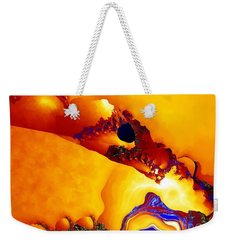 Rivulets Weekender Tote Bag featuring the digital art Rivulets by Ron Bissett