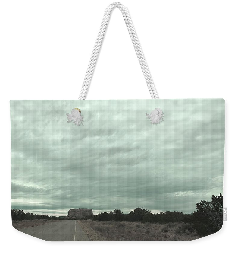 Mesa Weekender Tote Bag featuring the photograph Road Leading To Mesa by Syndi Phillips