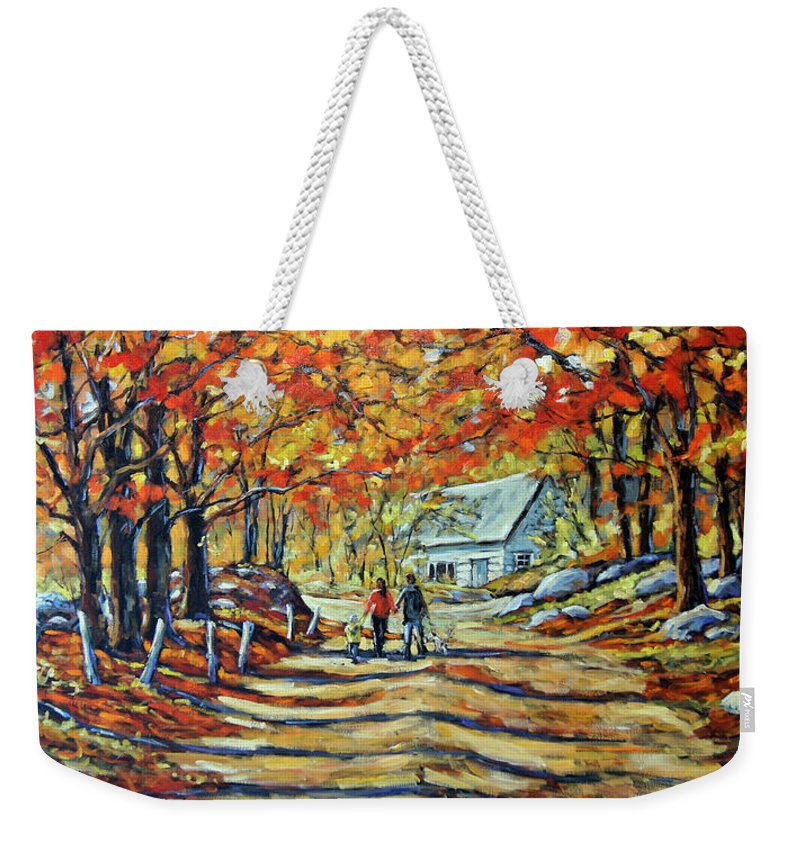 Art Weekender Tote Bag featuring the painting Road Of Life Fine Art by Richard T Pranke