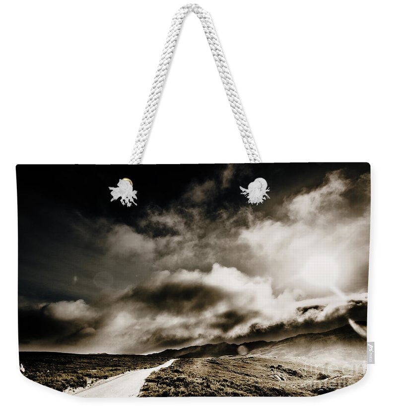 Dark Weekender Tote Bag featuring the photograph Road Storm by Jorgo Photography - Wall Art Gallery