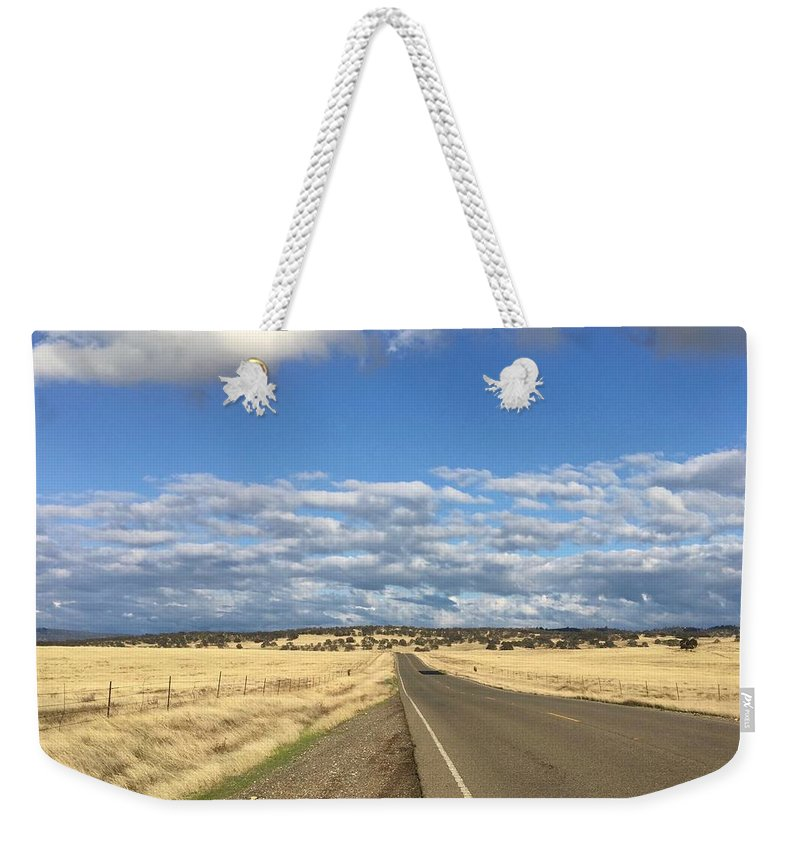 California Weekender Tote Bag featuring the photograph Road To Nowhere by Dani Keating